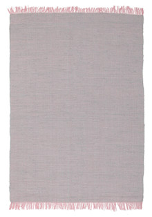 Abby Code Pink Flat Weave Cotton Rug