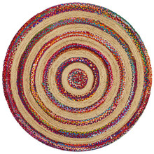 Alpine Multi 150cm Round Jute And Cotton Rug