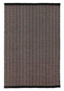 Cuba Flat Weave Wool Black Rug