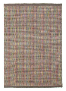 Cuba Flat Weave Wool Grey Rug