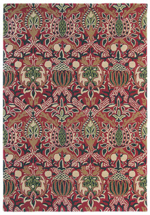 William Morris Granada Red Black Designer Wool
