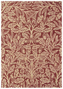 William Morris Oak Crimson Designer Wool