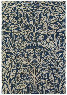 william Morris Oak Indigo Designer Wool