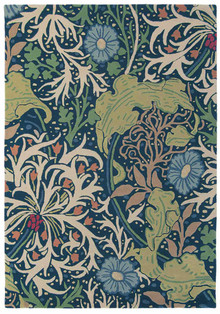 William Morris Seaweed Ink Designer Wool