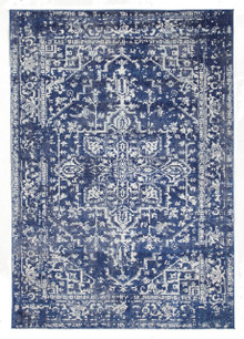 Evoke 253 Navy Washed Rug