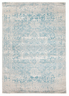 Evoke 253 White Blue Rug