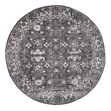 Evoke 252 Washed Charcoal 150cm Round Rug