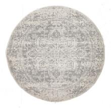 Evoke 253 White Silver 200cm Round Rug