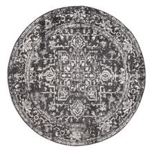 Evoke 253 Washed Charcoal 200cm Round Rug