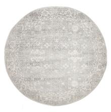 Evoke 252 Washed Silver 150cm Round Rug