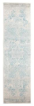 Evoke 253 White Blue 80x300cm Runner