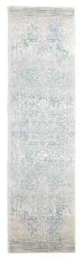 Evoke 253 White Blue 80x500cm Runner