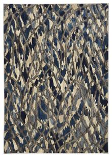 Lucci 856 Blue Modern Rug