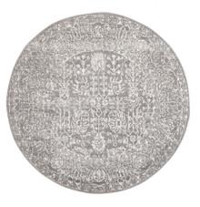 Evoke 256 Washed Grey 150cm Round Rug