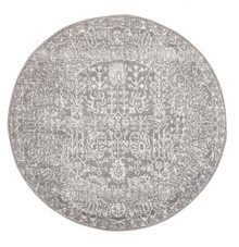 Evoke 256 Washed Grey 200cm Round Rug