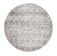 Evoke 257 Silver Wash 200cm Round Rug