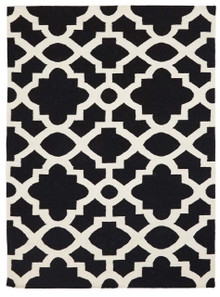 Nomad 17N Black Wool Rug