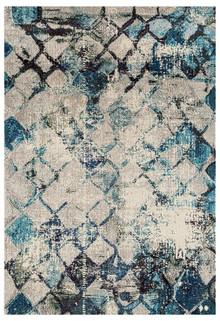 Crystal 1850 Blue Modern Rug