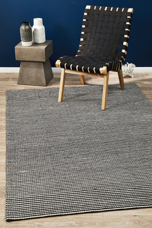 Studio 320 Black Wool and Viscose Rug
