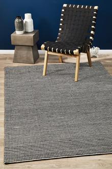 Studio 320 Black Wool and Viscose Rug