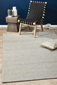 Studio 320 Grey Wool And Viscose Rug