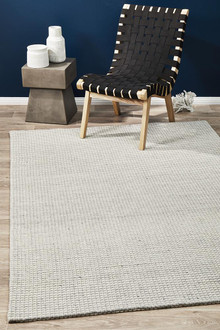 Studio 320 Silver Wool And Viscose Rug