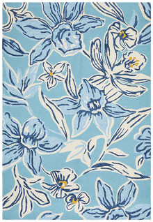 Cabana 596 Blue Outdoor Rug