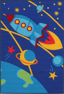 Venture Kids Outer Space Blue 100x150cm Rug