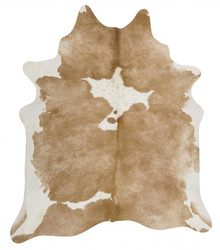 Premium Natural Cow Hide Beige White