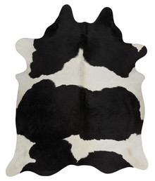 Premium Natural Cow Hide Black White