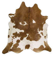 Premium Natural Cow Hide Brown White