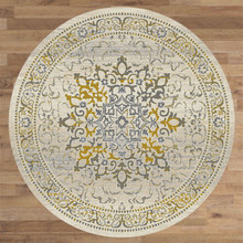 Antique Sahara 892 Gold 200cm Round Rug