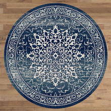Antique Sahara 892 Navy 160cm Round Rug