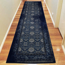 Antique Sahara 100 Navy 80x300cm Runner