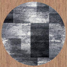 Aspen 444 Grey 160cm Round Rug
