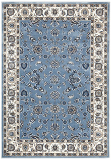 Noble Sky Blue Traditional Rug