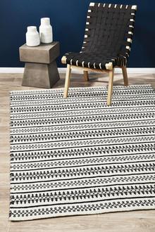 Studio 328 White Wool Flat Weave Rug