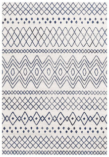 Avoca 453 White Blue Wash Modern Rug