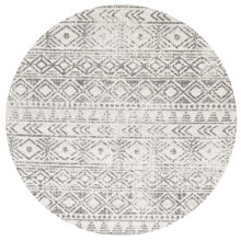 Avoca 456 Grey Wash 200cm Round Rug
