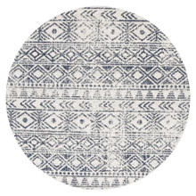 Avoca 456 Blue Wash 150cm Round Rug