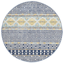 Avoca 455 Navy Wash 240cm Round Rug