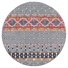 Avoca 455 Multi Wash 200cm Round Rug