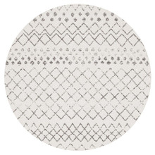 Avoca 454 White Wash 200cm Round Rug