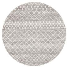 Avoca 454 Silver Wash 200cm Round Rug