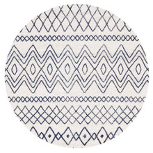 Avoca 453 White Blue Wash 200cm Round Rug