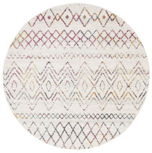 Avoca 453 Multi Wash 200cm Round Rug