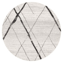 Avoca 452 Grey Wash 200cm Round Rug