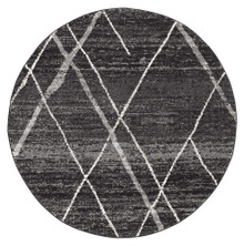 Avoca 452 Charcoal Wash 200cm Round Rug