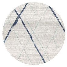 Avoca 452 Blue Wash 200cm Round Rug