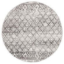 Avoca 451 Dark Grey Wash 200cm Round Rug